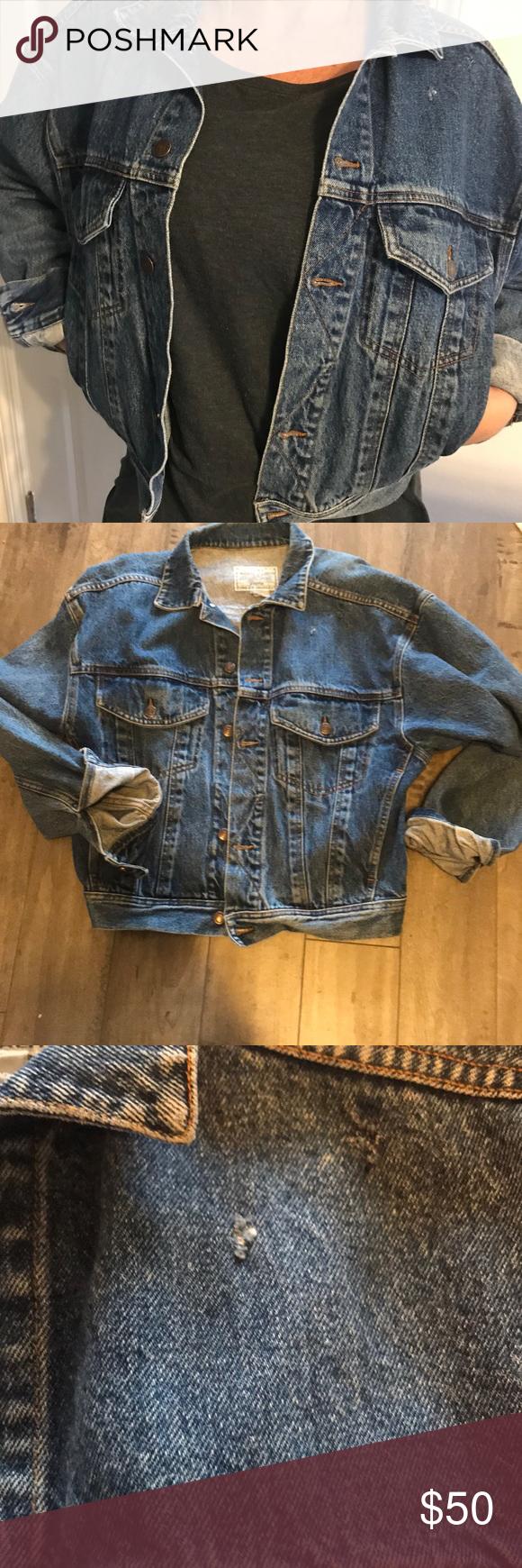 Vintage 90 S Jean Jacket Jean Jacket Jackets Vintage Fashion [ 1740 x 580 Pixel ]