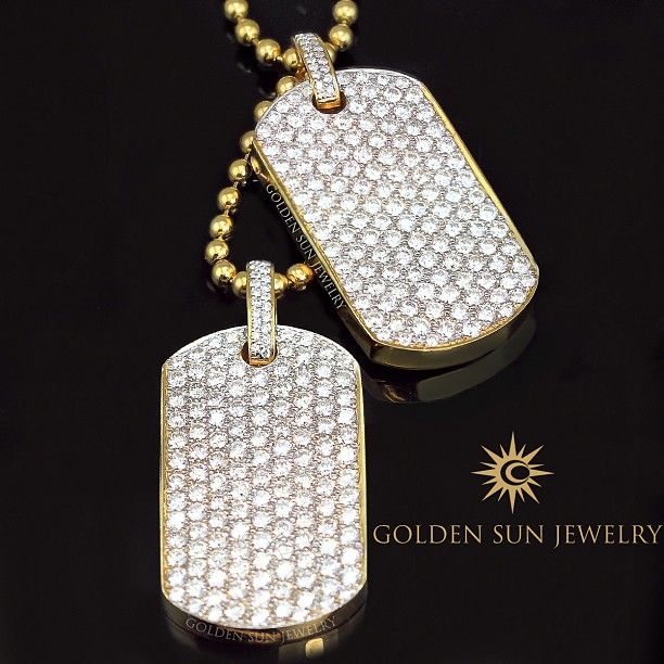 Golden sun jewelry our russian cut pave diamond dog tags 1350ct golden sun jewelry our russian cut pave diamond dog tags 1350ct each mozeypictures Images
