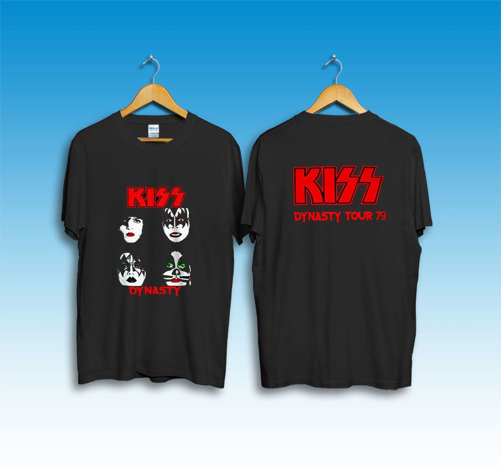 cf0ca81ed63 Vintage KISS DYNASTY 1979 Tour Concert T-Shirt Reprint Size S - 2XL   fashion  clothing  shoes  accessories  mensclothing  shirts (ebay link)