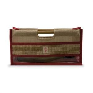 The Horizontal Jute Wine Purse is a jute wine tote to carry your wine bottle  sideways. This Jute Wine Purse is an easy-to-carry jute bag with side  windows ... 1e76665aad