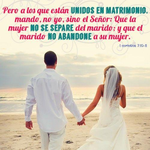 En 1 Corintios 7 10 11 Siendo Esta Una De Las Grandiosas Promesas De Dios Para El Matrimonio Como Cuando Te Llegas A Unir Es P Marriage Wedding Dresses Wedding