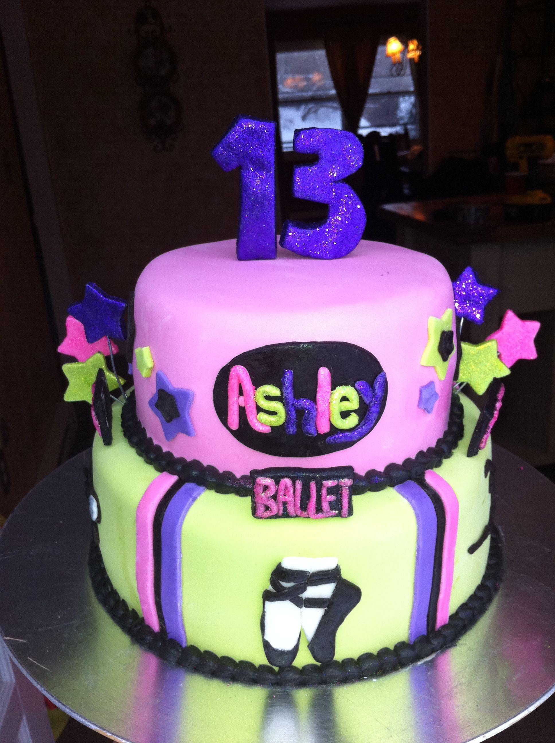 Dance Themed 13th Birthday Cake
