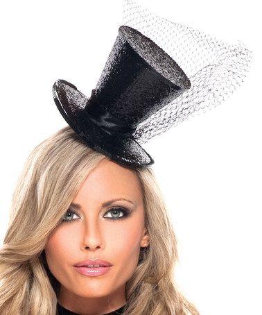 GREEN MINI TOP HAT WITH NET GLITTER FASCINATOR FANCY DRESS ACCESSORY CHRISTMAS