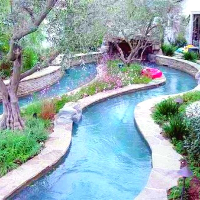 lazy river in a backyard! must have this. | Backyard, Lazy ...