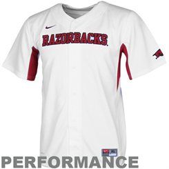 new product dc4e5 33d02 Nike Arkansas Razorbacks Youth Performance Baseball Jersey ...