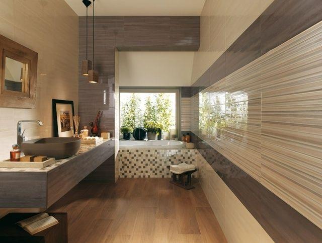 salle de bain noir et beige salle de bain gris et bois gnial salle ...
