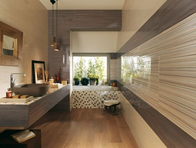 carrelage-salle-bain-beige-gris-sol-aspect-bois.jpg (640×483 ...