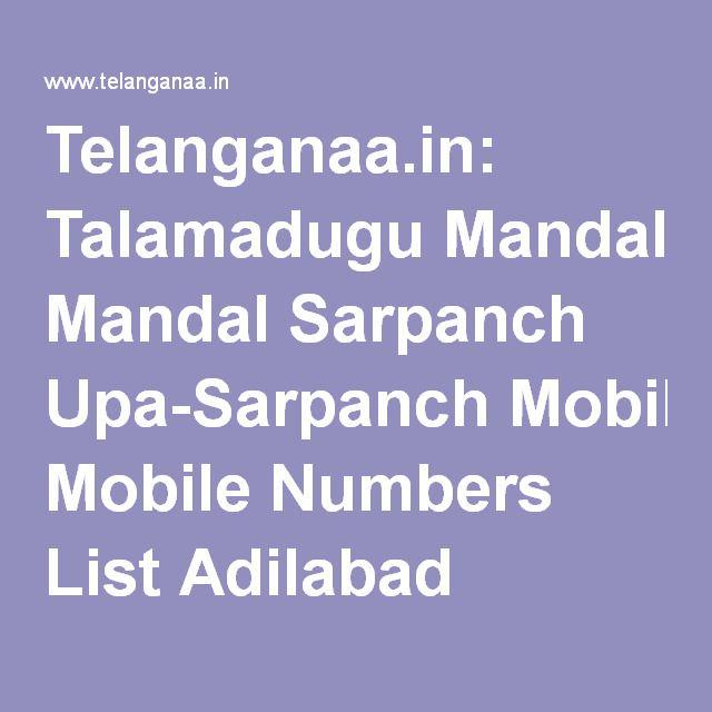 Telanganaa in: Talamadugu Mandal Sarpanch Upa-Sarpanch