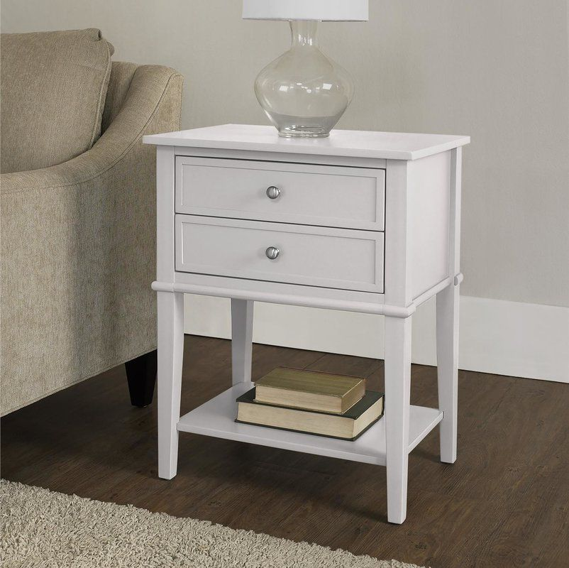 Dmitry 2 Drawer End Table End Tables With Storage Side Table