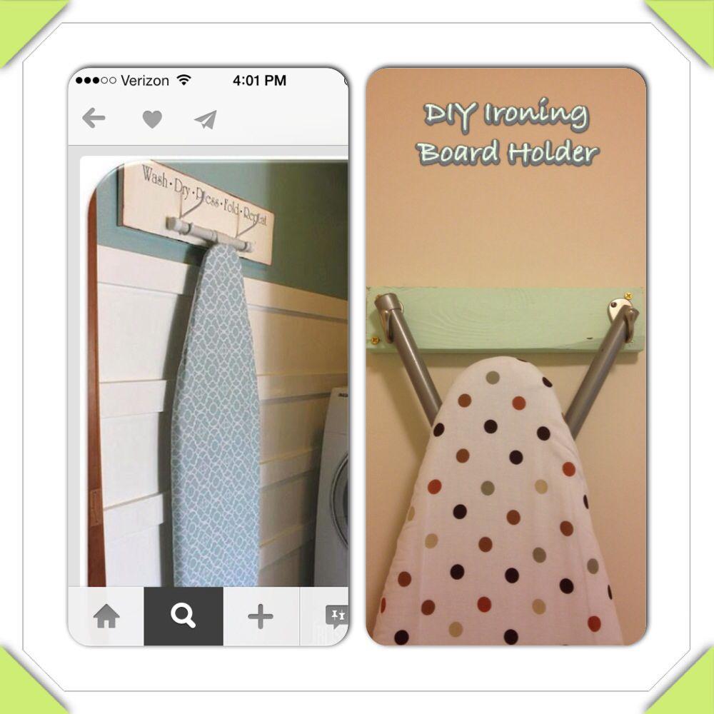 DIY ironing board holder | Laundry room | Pinterest
