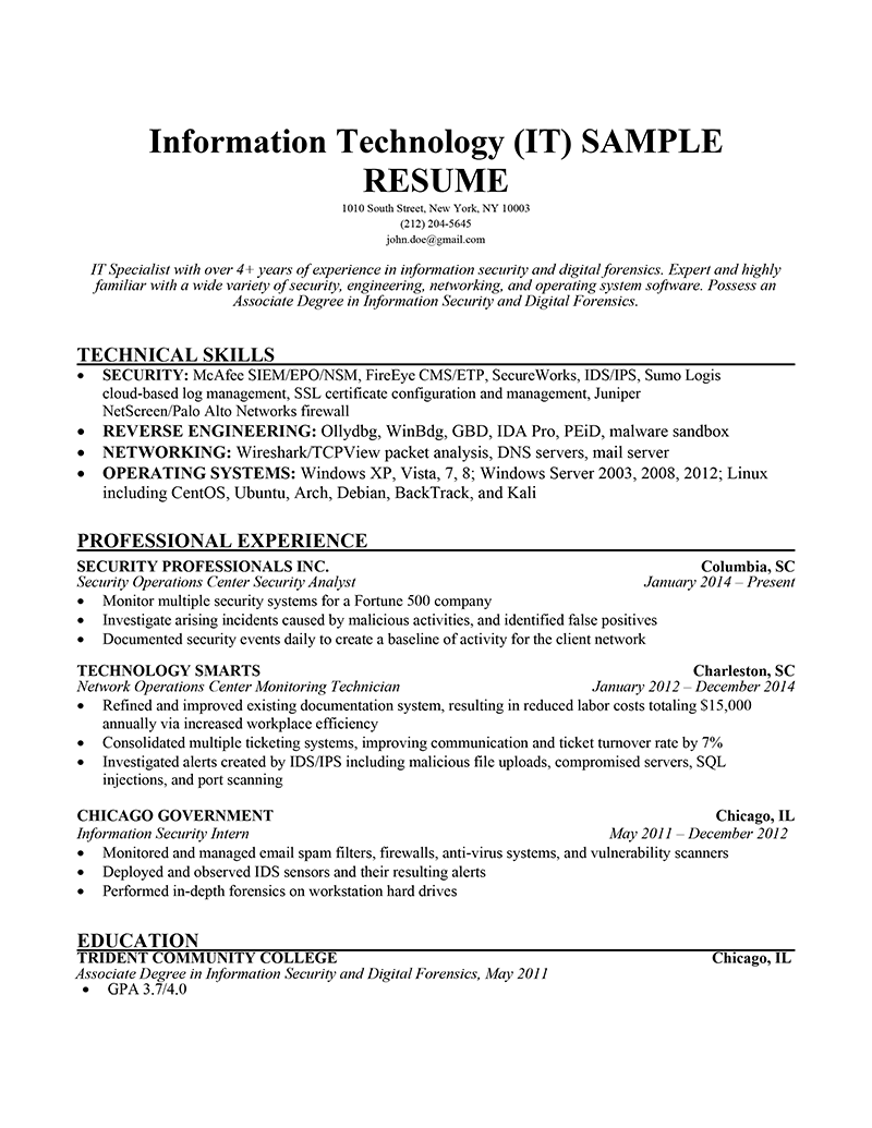 Classic Resume Template in 2020 Resume skills, Resume