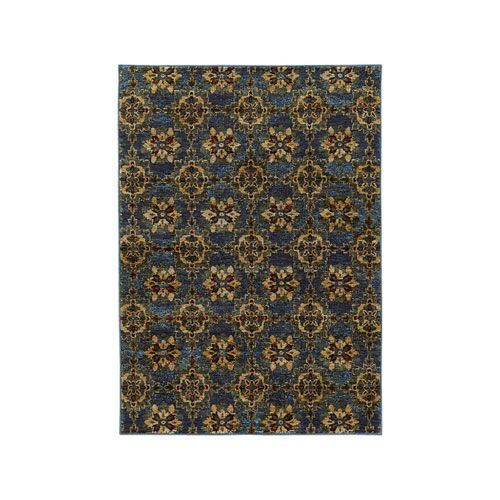 Andorra Blue Rectangular: 7 Ft. 10-Inch x 10 Ft. 10-Inch  Rug - (In No Image Available)