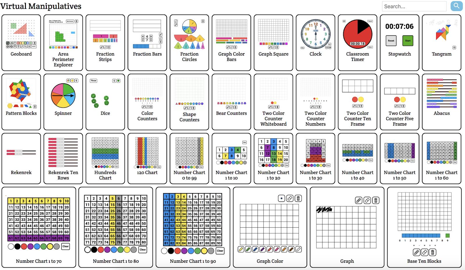Free Virtual Math Manipulatives For Chromebook And