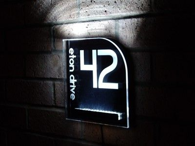 Image gallery led house numbers Led house numbers