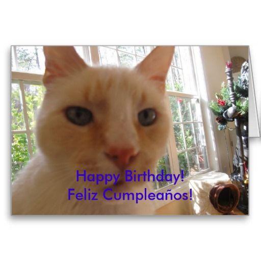 Bilingual Birthday Card Feliz Cumpleanos En Ingles Y Espanol
