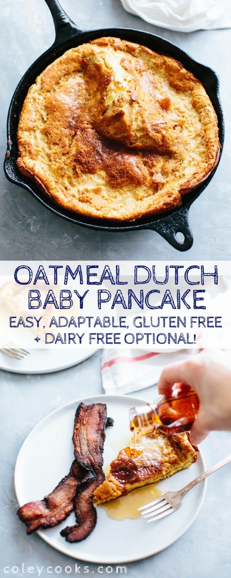 Oatmeal Dutch Baby Pancake   Recipe in 2020   Food ...