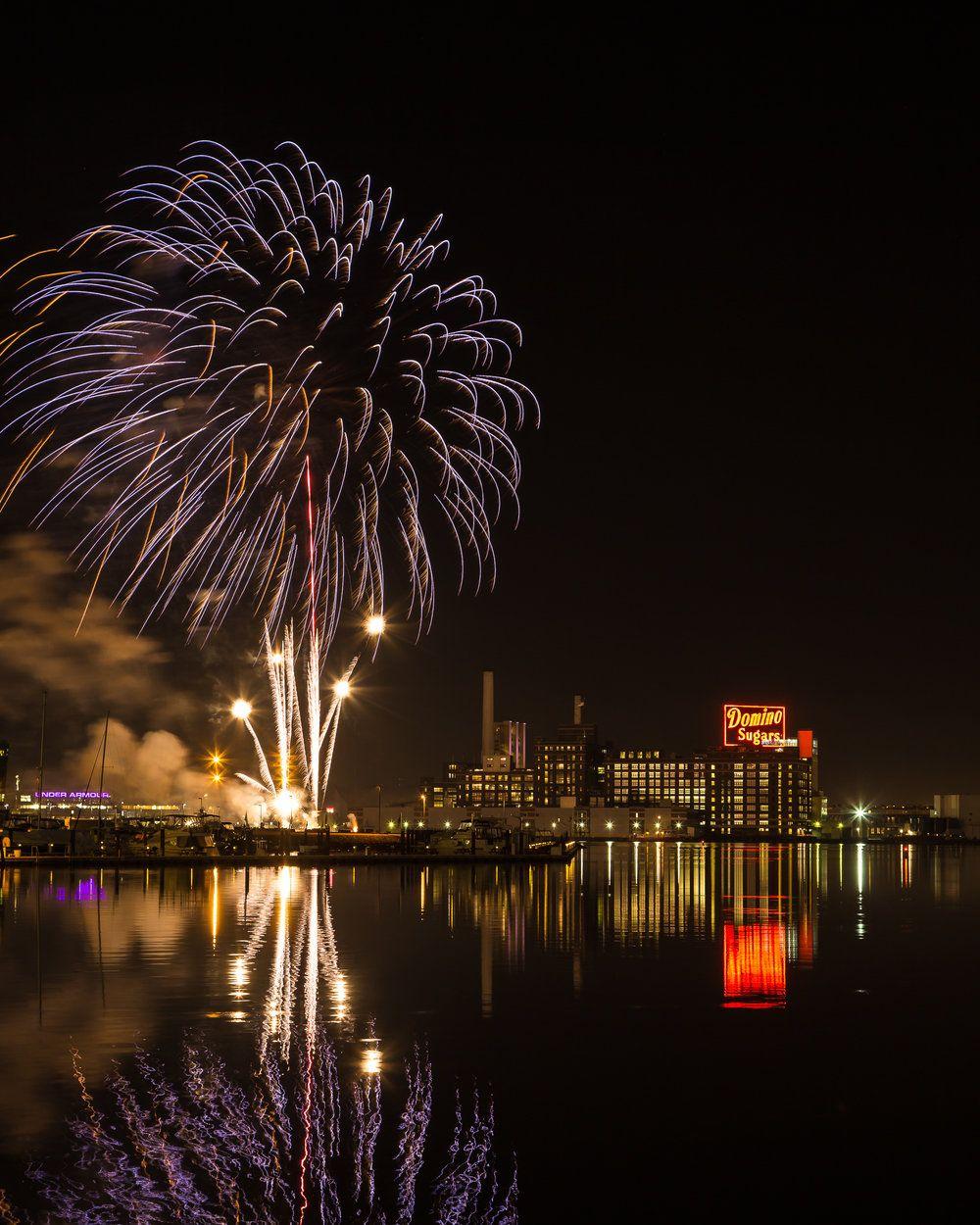 New Years Fireworks, Baltimore Inner Harbor