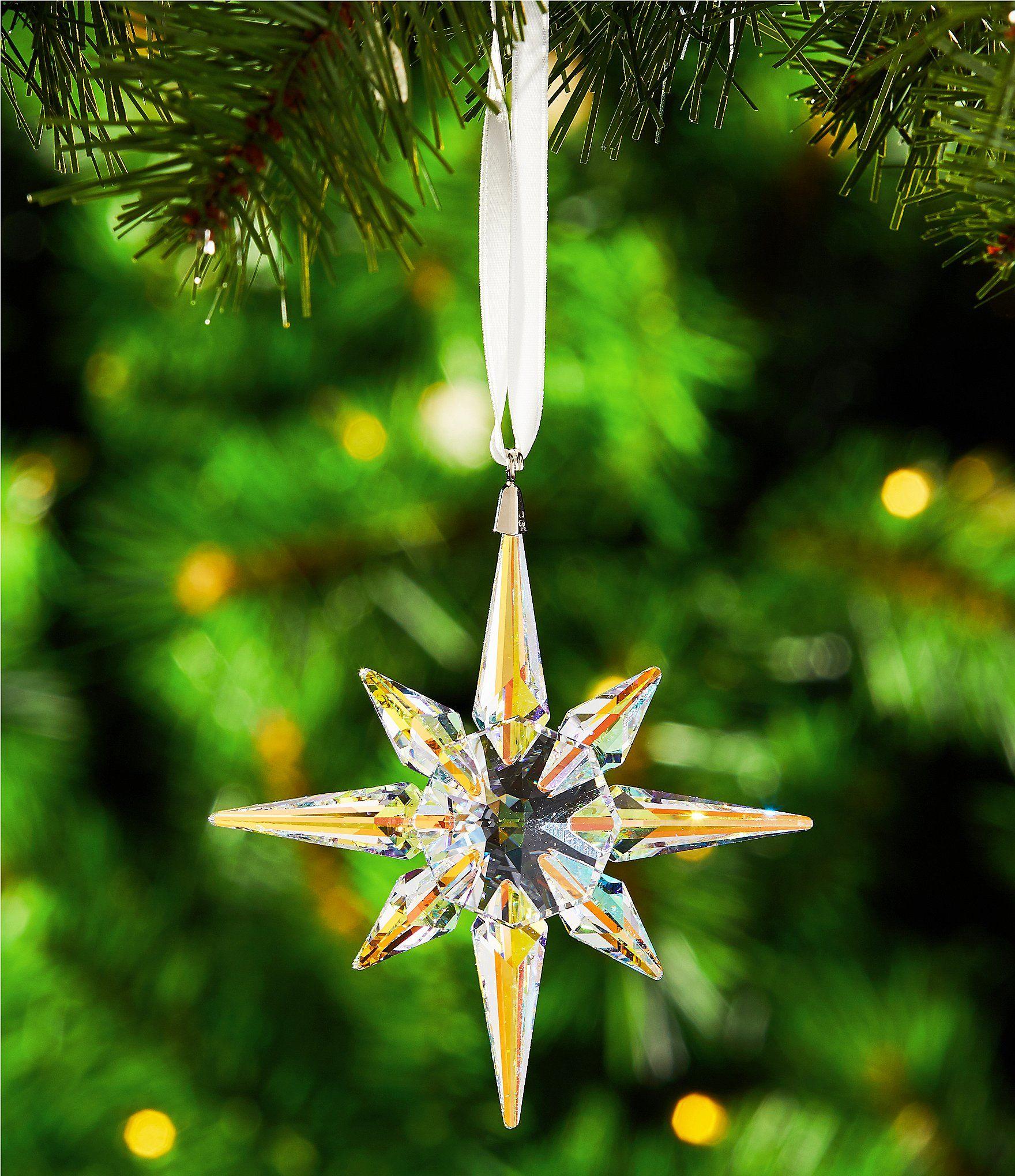 19f3945e6e5 Swarovski Crystal 2018 Aurora Borealis Star Christmas Ornament #Dillards