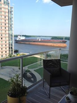 View from 9th floor at Waterfront Square Condos!