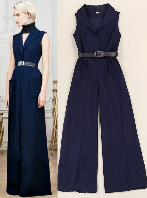 Morpheus Boutique  - Navy Belted Sleeveless Flare Jumpsuit, CA$92.29 (http://www.morpheusboutique.com/new-arrivals/navy-belted-sleeveless-flare-jumpsuit/)