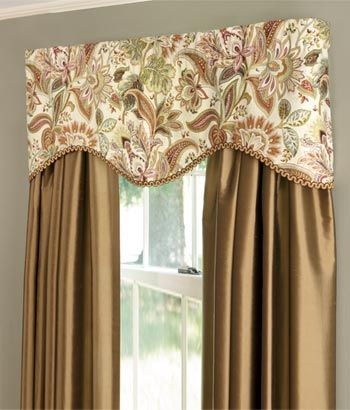 Paisley Jacobean Lined Tailored Valance Country Curtains
