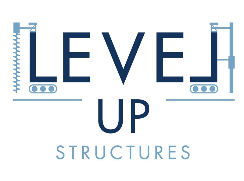 Level Up Structures Logo Design Eyely Design Logo Design Logos Wellness Design