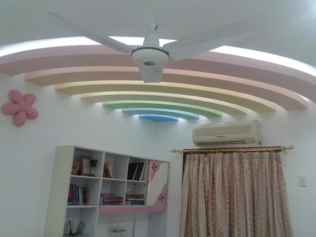 In creating a certain mood, an important role is played by the way the ceiling will be decorated. Pop False Ceiling Design For Small Bedroom With Fan Trendecors