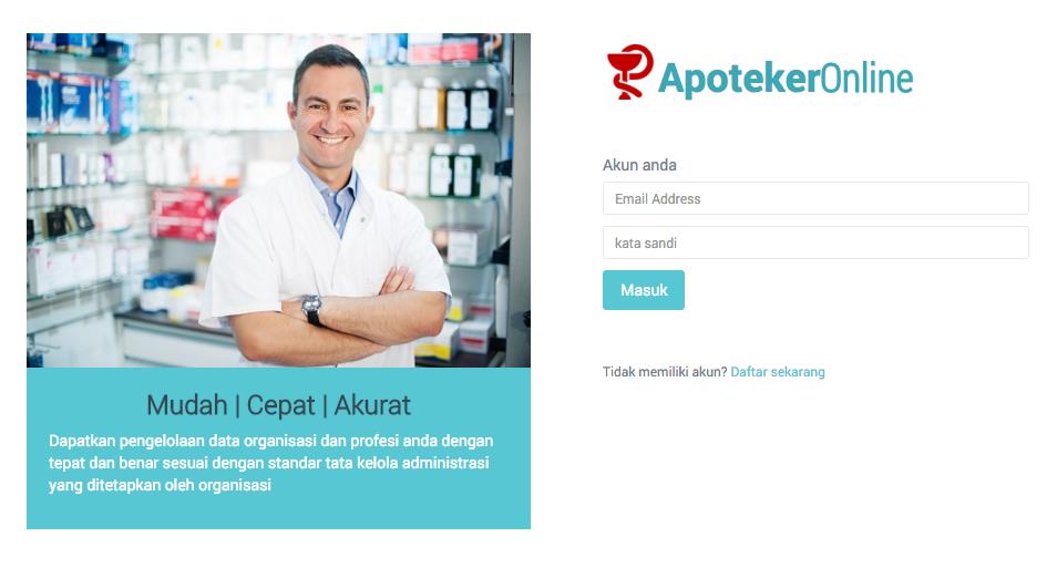 Cara Gunakan Situs Pengelolaan Data Organisasi Profesi Apoteker Online Apoteker Profesi Persandian