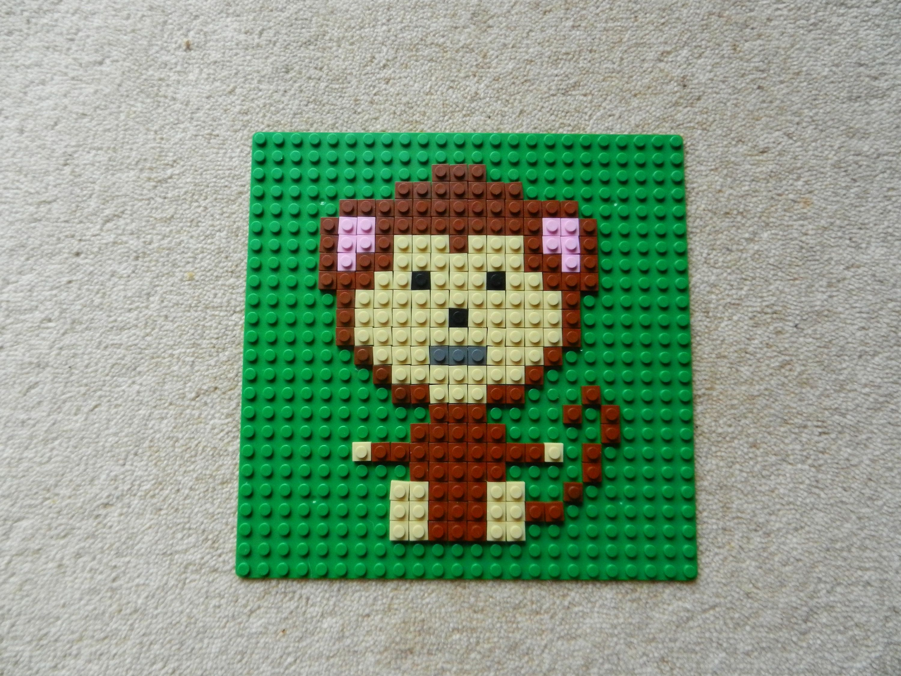 Nursery Animal Art, Jungle Animal Art, Kids Room Picture, Lego