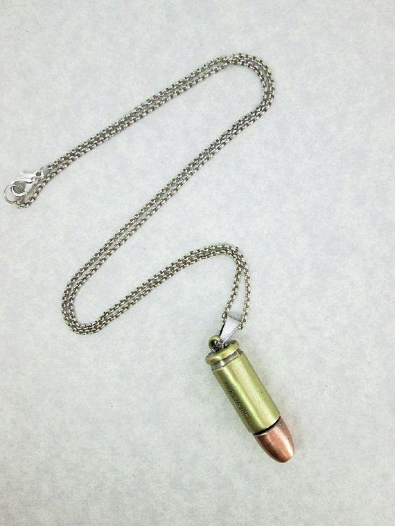 punk bullet secret message necklace bullet pendant bullet necklace