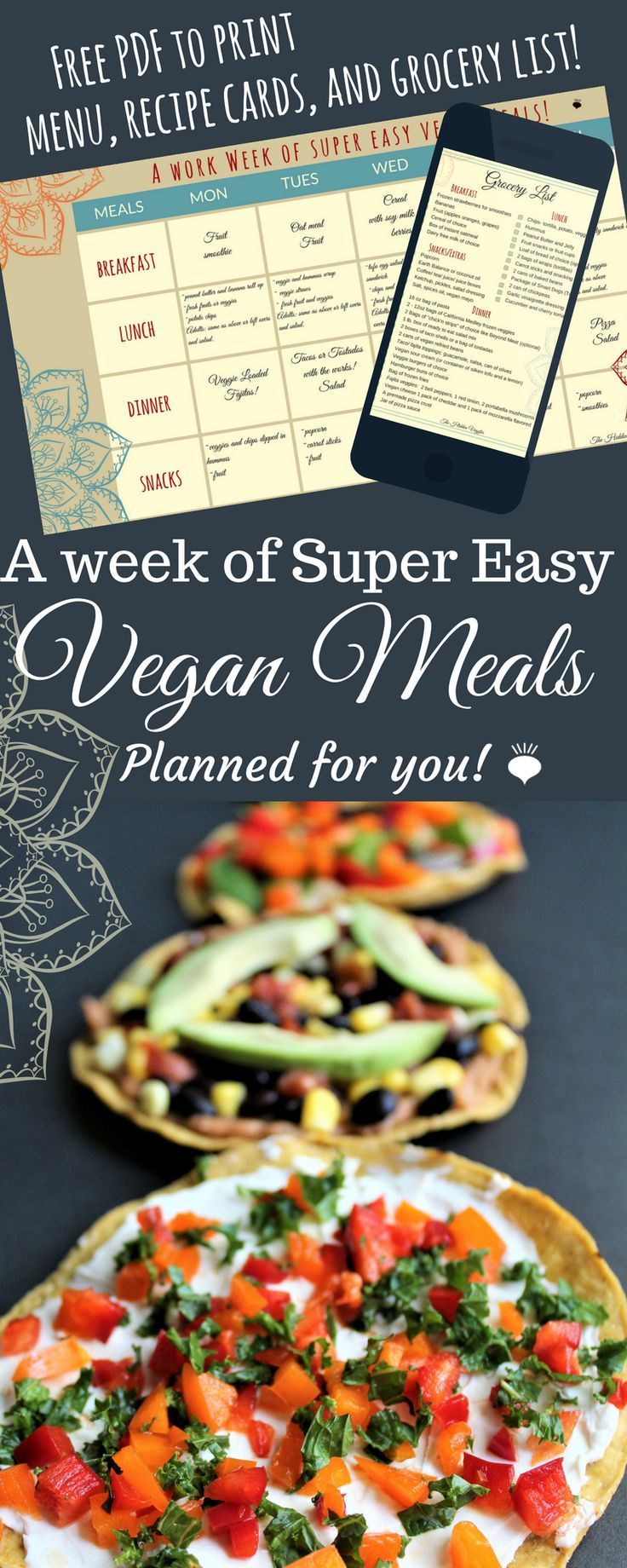 Easy vegan and gluten free meals planed for you! Free PDF