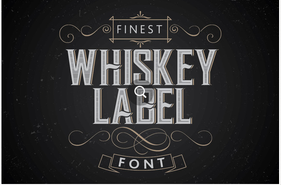 Download Vintage Label Whiskey Style Font Free Vintage Fonts Vintage Labels Whiskey Label