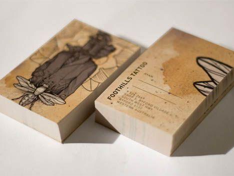 Foothills Tattoo Artist Business Card_1 | Tarjetas / Cards ...