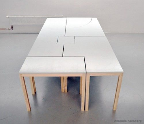 Awesome 7wonders Modular Table By Swedish Designer Amanda Karsberg   Seven Smaller  Tables Join To Form Your