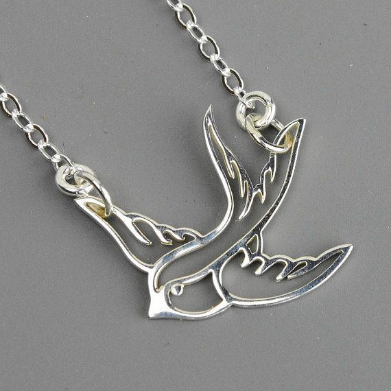 Sterling silver sparrow necklace flying bird necklace everyday sterling silver sparrow necklace flying soaring bird necklace everyday necklace silver pendant necklace all sterling silver on etsy 3200 aloadofball Images
