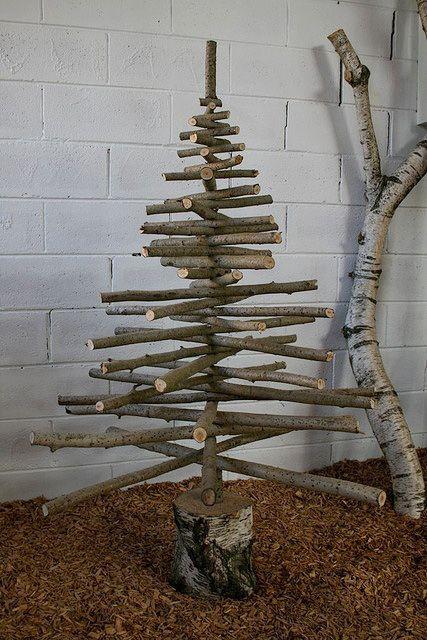 Branch Xmas Tree Poplar Silver Birch And Steel Artist Greg Hatton Www Flickr Com Photos Gregh Christmas Deco Christmas Decorations Rustic Christmas
