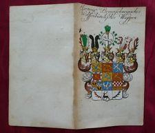 WAPPEN BRAUNSCHWEIG-WOLFENBÜTTEL MIT STAMMTAFEL KUPFERSTICH WEIGEL KÖHLER 1736