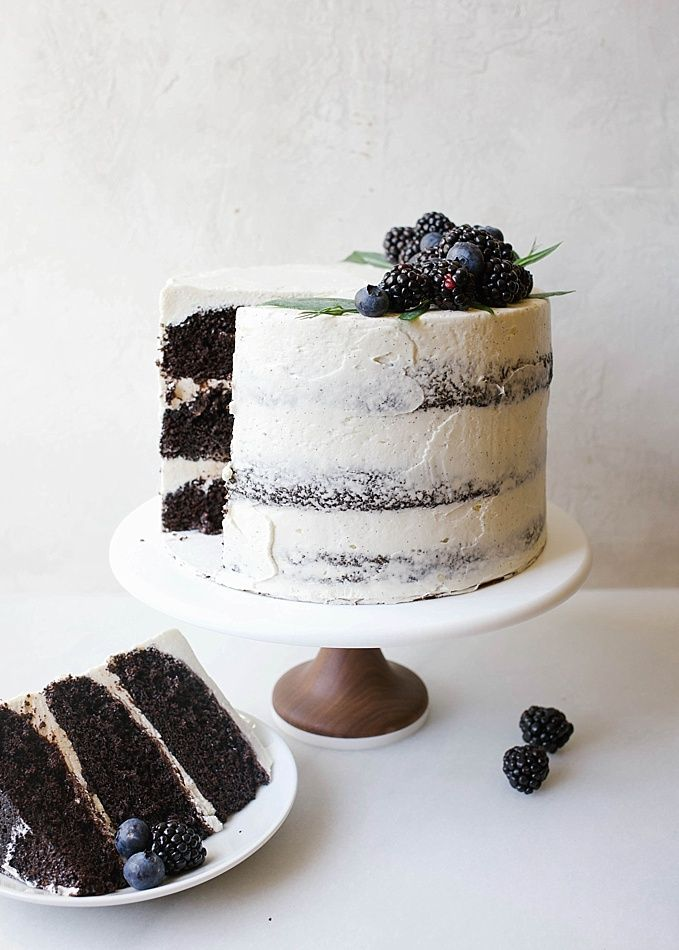 Black And White Cake Recipe Cocoa Cake Vanilla Bean Frosting