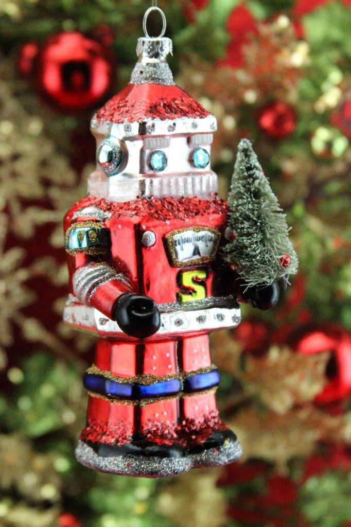 Gisela-Graham-Collectors-Glass-Christmas-Decorations-Robot-Santa- - Gisela-Graham-Collectors-Glass-Christmas-Decorations-Robot-Santa