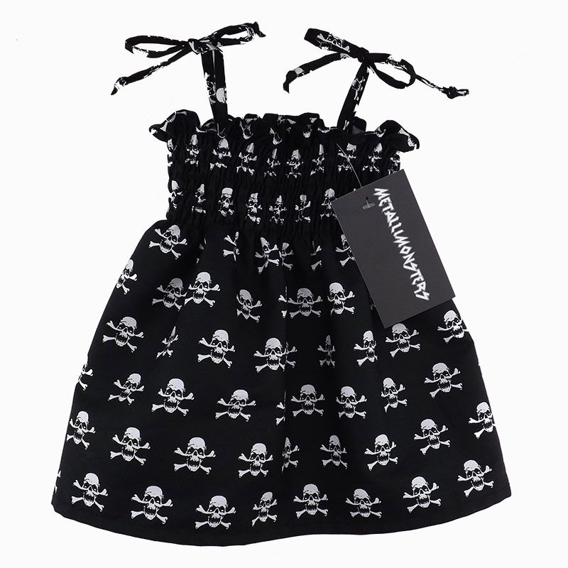 Skully Sundress Alternative Goth Punk Rock Metal Baby