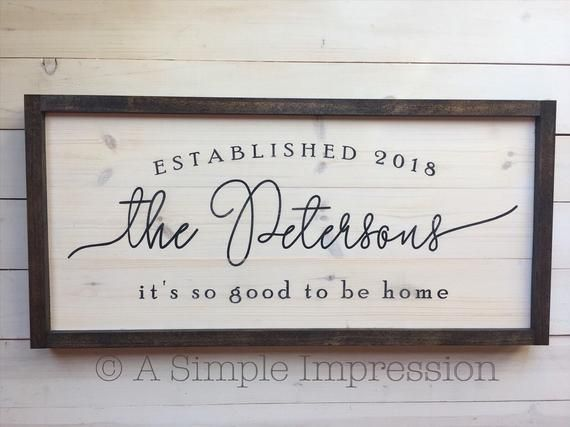 Custom Wedding Gift Wood Sign | Personalized Wedding Gift Sign | Wood Distressed Sign | Painted | Farmhouse Decor | Unique Custom Wedding #personalizedwedding