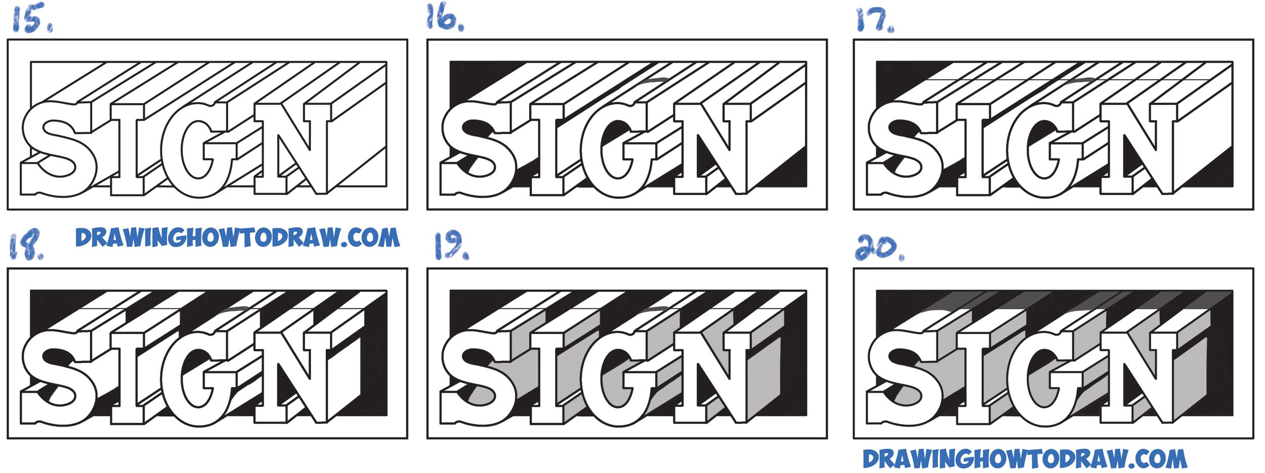how to draw cool letters az step by step
