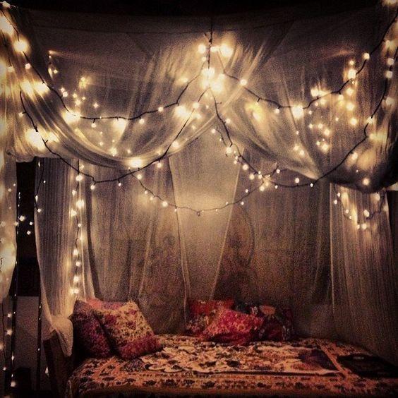fantastic led string lights decor girls bedroom; led lights bedroom decor dream rooms; pink