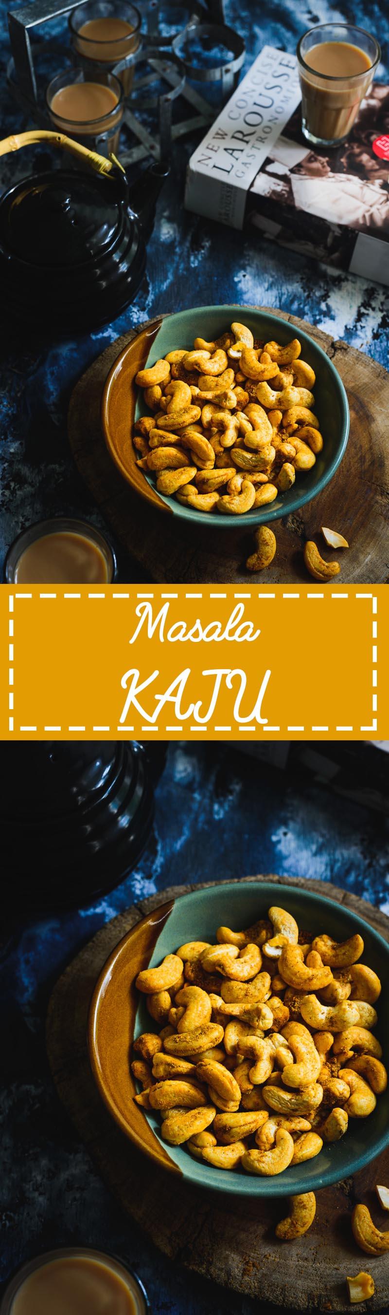 Masala Kaju. Healthy snack made using air fryer with