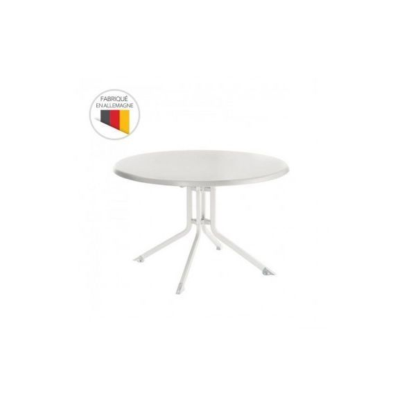 Table de jardin pliante Advantage Ø 100 cm en aluminium in ...