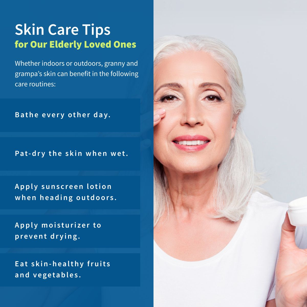 Skin Care Tips For Our Elderly Loved Ones Skincaretips Magnoliahomecareservice Elderly Care Skin Care Tips Understanding Dementia