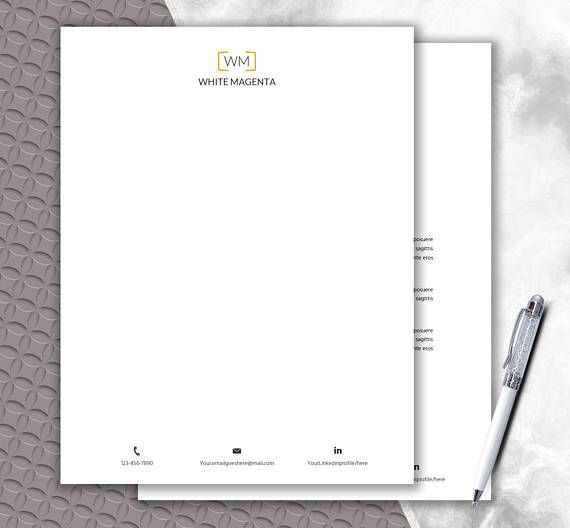 Download Stationery Paper  Monogram Design  Personal Letterhead
