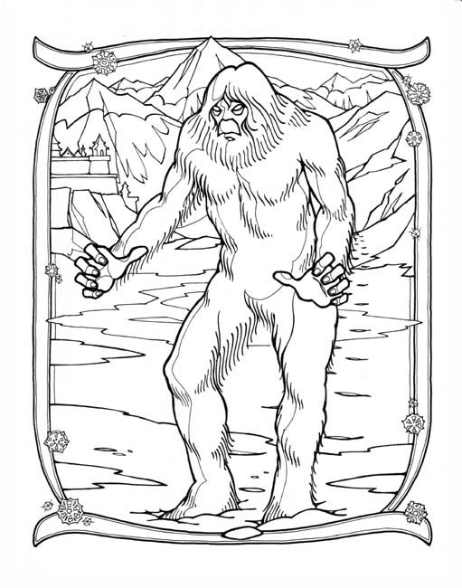 Snowman Yeti Art For Tomlands Famous Monsters Of Legend Super Coloring Pages Coloring Pages Bigfoot Art