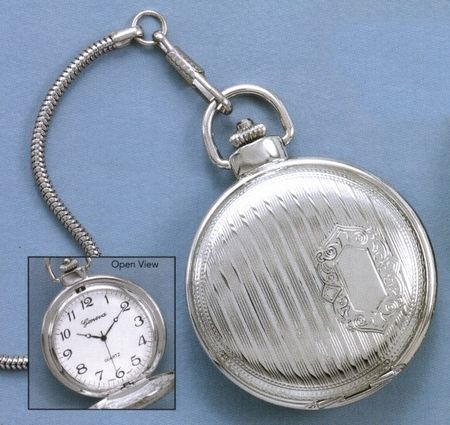 Silver Plated Pocket Watch, Can Be Engraved, $24.99    http://www.silvermessages.com/sterlingsilverjewelry/product/9937.html