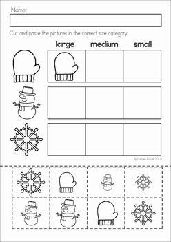 Winter Preschool No Prep Worksheets & Activities | Vorschule ...